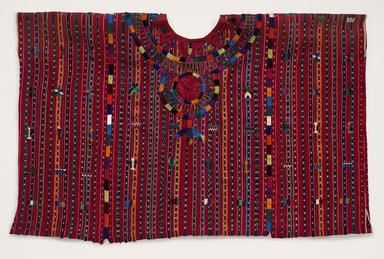 Maya. <em>Ceremonial Blouse</em>, 20th century. Cotton, satin, 30 x 44 in. (76.2 x 111.8 cm). Brooklyn Museum, Gift of Esther Pasztory, 2010.84.13. Creative Commons-BY (Photo: Brooklyn Museum, 2010.84.13_PS6.jpg)