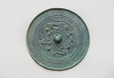 <em>Mirror</em>, 5th-6th century. Bronze, 4 1/2 in. (11.4 cm). Brooklyn Museum, Gift of Dr. and Mrs. John P. Lyden, 2010.85.1. Creative Commons-BY (Photo: Brooklyn Museum, 2010.85.1_PS11.jpg)