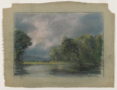 Edward Mitchell Bannister (American, 1828-1901). <em>Untitled</em>, ca. 1885. Pastel on paper, sight: 7 1/2 x 10 1/2 in. (19.1 x 26.7 cm). Brooklyn Museum, Gift of the Elisha Hawkins Collection of African and African American Art, 2011.1.2 (Photo: Brooklyn Museum, 2011.1.2_PS6.jpg)
