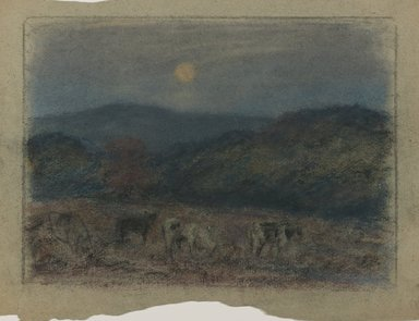 Edward Mitchell Bannister (American, 1828-1901). <em>Untitled</em>, ca. 1885. Pastel on paper, Sight: 7 1/2 x 10 1/2 in. (19.1 x 26.7 cm). Brooklyn Museum, Gift of the Elisha Hawkins Collection of African and African American Art, 2011.1.3 (Photo: Brooklyn Museum, 2011.1.3_PS6.jpg)