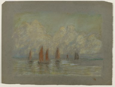 Edward Mitchell Bannister (American, 1828-1901). <em>Untitled</em>, ca. 1885. Pastel on paper, Sight: 7 1/2 x 10 1/2 in. (19.1 x 26.7 cm). Brooklyn Museum, Gift of the Elisha Hawkins Collection of African and African American Art, 2011.1.4 (Photo: Brooklyn Museum, 2011.1.4_PS6.jpg)