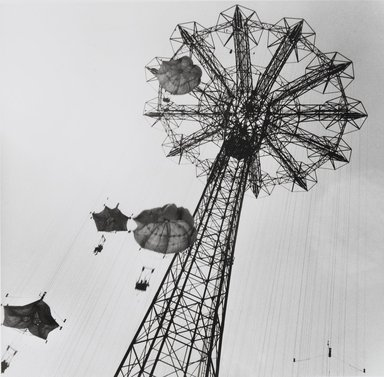 Nathan Lerner (American, 1913-1997). <em>[Untitled] (Parachute Jump)</em>, n.d., later print. Gelatin silver photograph, Sheet: 8 x 10 in. (20.3 x 25.4 cm). Brooklyn Museum, Gift of Kiyoko Lerner, 2011.25.18. © artist or artist's estate (Photo: Brooklyn Museum, 2011.25.18_PS4.jpg)