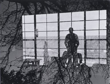 Nathan Lerner (American, 1913-1997). <em>Man Against Window</em>, 1954, printed later. Gelatin silver photograph, Sheet: 11 x 14 in. (27.9 x 35.6 cm). Brooklyn Museum, Gift of Kiyoko Lerner, 2011.25.32. © artist or artist's estate (Photo: Brooklyn Museum, 2011.25.32_PS4.jpg)
