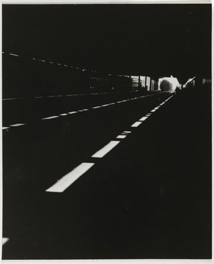 Nathan Lerner (American, 1913-1997). <em>Tunnel</em>, 1936-1941, printed later. Gelatin silver photograph mounted on board, mat: 16 7/8 x 13 7/8 in. (42.9 x 35.2 cm). Brooklyn Museum, Gift of Kiyoko Lerner, 2011.25.36. © artist or artist's estate (Photo: Brooklyn Museum, 2011.25.36_PS6.jpg)