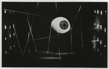 Nathan Lerner (American, 1913-1997). <em>Eye and Strings</em>, 1939, printed later. Gelatin silver photograph mounted on board, mat: 16 7/8 x 13 7/8 in. (42.9 x 35.2 cm). Brooklyn Museum, Gift of Kiyoko Lerner, 2011.25.39. © artist or artist's estate (Photo: Brooklyn Museum, 2011.25.39_PS6.jpg)