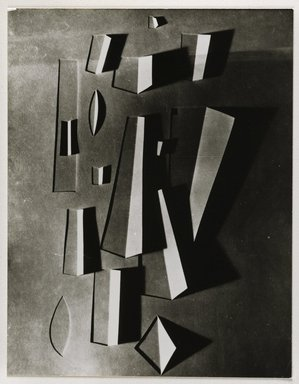 Nathan Lerner (American, 1913-1997). <em>Light Drawing with Folded Paper</em>, 1940-1942, printed later. Gelatin silver photograph mounted on board, mat: 14 x 11 in. (35.6 x 27.9 cm). Brooklyn Museum, Gift of Kiyoko Lerner, 2011.25.41. © artist or artist's estate (Photo: Brooklyn Museum, 2011.25.41_PS6.jpg)