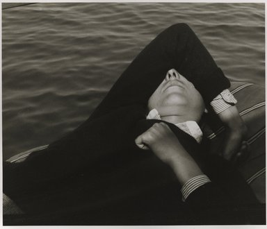Nathan Lerner (American, 1913-1997). <em>Girl in Boat</em>, 1935, printed 1980. Gelatin silver photograph, Sheet: 9 3/4 x 11 in. (24.8 x 27.9 cm). Brooklyn Museum, Gift of Kiyoko Lerner, 2011.25.53. © artist or artist's estate (Photo: Brooklyn Museum, 2011.25.53_PS6.jpg)