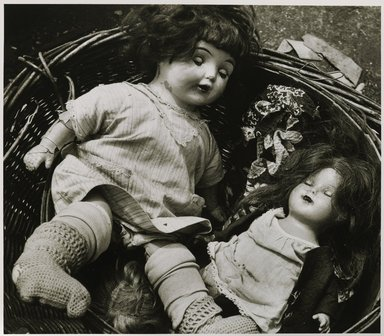 Nathan Lerner (American, 1913-1997). <em>Dolls, Maxwell Street</em>, 1936, printed later. Gelatin silver photograph, Sheet: 11 x 14 in. (27.9 x 35.6 cm). Brooklyn Museum, Gift of Kiyoko Lerner, 2011.25.54. © artist or artist's estate (Photo: Brooklyn Museum, 2011.25.54_PS6.jpg)