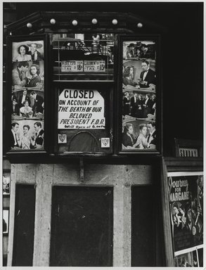 Nathan Lerner (American, 1913-1997). <em>End of an Era, New York</em>, 1945, printed later. Gelatin silver photograph, sheet: 14 x 11 in. (35.6 x 27.9 cm). Brooklyn Museum, Gift of Kiyoko Lerner, 2011.25.58. © artist or artist's estate (Photo: Brooklyn Museum, 2011.25.58_PS6.jpg)