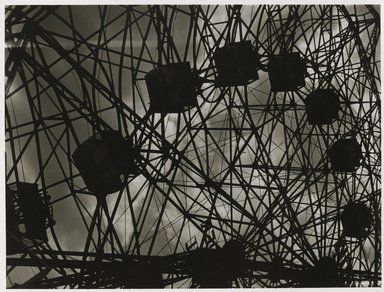 Nathan Lerner (American, 1913-1997). <em>Ferris Wheel</em>, 1938, printed later. Gelatin silver photograph, sheet: 14 x 11 in. (35.6 x 27.9 cm). Brooklyn Museum, Gift of Kiyoko Lerner, 2011.25.59. © artist or artist's estate (Photo: Brooklyn Museum, 2011.25.59_PS6.jpg)
