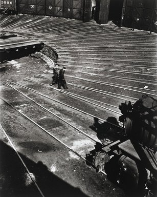 Nathan Lerner (American, 1913-1997). <em>Roundhouse, Chicago 1936</em>, Printed 1983. Selenium-toned print, Sheet: 20 x 16 in. (50.8 x 40.6 cm). Brooklyn Museum, Gift of Kiyoko Lerner, 2011.25.67. © artist or artist's estate (Photo: Brooklyn Museum, 2011.25.67_PS4.jpg)