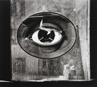 Nathan Lerner (American, 1913-1997). <em>Eye on Window, New York 1943</em>, Printed 1983. Selenium-toned print, Sheet: 16 x 20 in. (40.6 x 50.8 cm). Brooklyn Museum, Gift of Kiyoko Lerner, 2011.25.77. © artist or artist's estate (Photo: Brooklyn Museum, 2011.25.77_PS4.jpg)