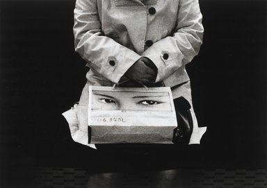 Nathan Lerner (American, 1913-1997). <em>The Shopping Bag, Tokyo 1976</em>, Printed 1983. Selenium-toned print, Sheet: 16 x 20 in. (40.6 x 50.8 cm). Brooklyn Museum, Gift of Kiyoko Lerner, 2011.25.79. © artist or artist's estate (Photo: Brooklyn Museum, 2011.25.79_PS4.jpg)