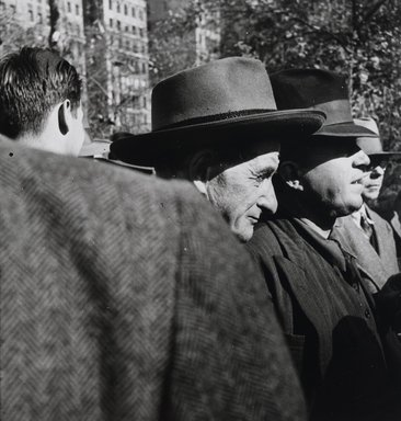 Nathan Lerner (American, 1913-1997). <em>Union Square</em>, 1937, printed later. Gelatin silver photograph, Sheet: 7 1/2 x 6 3/4 in. (19.1 x 17.1 cm). Brooklyn Museum, Gift of Kiyoko Lerner, 2011.25.9. © artist or artist's estate (Photo: Brooklyn Museum, 2011.25.9_PS4.jpg)