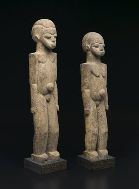 Lobi. <em>Standing Male Figure (Bateba)</em>, early 20th century. Wood, 19 7/8 x 4 1/2 x 4 1/4 in. (50.5 x 11.4 x 10.8 cm). Brooklyn Museum, Collection of Beatrice Riese, 2011.4.3. Creative Commons-BY (Photo: , 2011.4.3_2011.4.4_PS2.jpg)