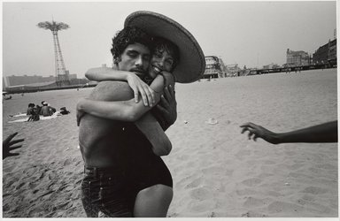 Harvey Stein (American, born 1941). <em>The Hug: Closed Eyes and Smile</em>, 1982. Selenium-toned gelatin silver photograph, sheet: 11 x 14 in. (27.9 x 35.6 cm). Brooklyn Museum, Gift of the artist, 2011.73. © artist or artist's estate (Photo: Brooklyn Museum, 2011.73_PS9.jpg)