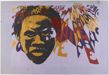 Barbara Jones-Hogu (American, born 1938). <em>Nation Time</em>, ca. 1970. Color screenprint, sheet: 22 1/2 x 30 in. (57.2 x 76.2 cm). Brooklyn Museum, Gift of R.M. Atwater, Anna Wolfrom Dove, Alice Fiebiger, Joseph Fiebiger, Belle Campbell Harriss, and Emma L. Hyde, by exchange, Designated Purchase Fund, Mary Smith Dorward Fund, Dick S. Ramsay Fund, and  Carll H. de Silver Fund, 2012.80.25. © artist or artist's estate (Photo: Brooklyn Museum, 2012.80.25_PS4.jpg)