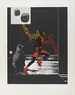 Lev T. Mills (American, born 1940). <em>A Winner</em>, 1972. Screenprint on paper, Image: 23 x 18 in. (58.4 x 45.7 cm). Brooklyn Museum, Gift of R.M. Atwater, Anna Wolfrom Dove, Alice Fiebiger, Joseph Fiebiger, Belle Campbell Harriss, and Emma L. Hyde, by exchange, Designated Purchase Fund, Mary Smith Dorward Fund, Dick S. Ramsay Fund, and  Carll H. de Silver Fund, 2012.80.33. © artist or artist's estate (Photo: Brooklyn Museum, 2012.80.33_PS4.jpg)