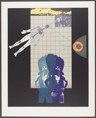 Lev T. Mills (American, born 1940). <em>I'm Funky, But Clean</em>, 1972. Screenprint on paper with colored-pencil additions, Image: 23 x 19 in. (58.4 x 48.3 cm). Brooklyn Museum, Gift of R.M. Atwater, Anna Wolfrom Dove, Alice Fiebiger, Joseph Fiebiger, Belle Campbell Harriss, and Emma L. Hyde, by exchange, Designated Purchase Fund, Mary Smith Dorward Fund, Dick S. Ramsay Fund, and  Carll H. de Silver Fund, 2012.80.34. © artist or artist's estate (Photo: Brooklyn Museum, 2012.80.34_PS4.jpg)