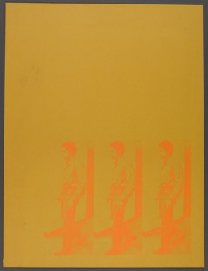 Cleveland Bellow (American, 1946-2009). <em>George Jackson</em>, 1970. Screenprint on colored paper, Sheet: 23 1/2 x 17 1/2 in. (59.7 x 44.5 cm). Brooklyn Museum, Gift of R.M. Atwater, Anna Wolfrom Dove, Alice Fiebiger, Joseph Fiebiger, Belle Campbell Harriss, and Emma L. Hyde, by exchange, Designated Purchase Fund, Mary Smith Dorward Fund, Dick S. Ramsay Fund, and  Carll H. de Silver Fund, 2012.80.8. © artist or artist's estate (Photo: Brooklyn Museum, 2012.80.8_PS4.jpg)