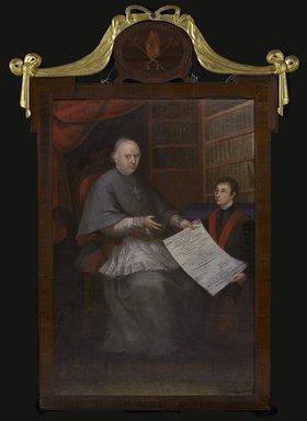 Emeterio Emazábel (Venezuelan, active 1810-1840). <em>Archbishop Narciso Coll y Prat and José-Vicente-Eulogio-Ramón-Ignacio-de-Jesús de Rada-y-Verois</em>, ca. 1811. Oil on canvas, 55 1/2 x 37 3/4 in. (141 x 95.9 cm). Brooklyn Museum, Gift of Lilla Brown in memory of her husband, John W. Brown, by exchange, 2012.91 (Photo: Brooklyn Museum, 2012.91_PS9.jpg)