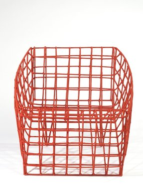 Cheick Diallo (Malian, born 1960). <em>Sansa Chair in Red</em>, 2012. Steel, nylon, 31 1/2 x 31 1/2 x 35 7/16 in. (80.0 x 80.0 x 90.0 cm). Brooklyn Museum, Bequest of Mrs. Carl L. Selden, by exchange, gift of Mary Babbott Ladd and Frank L. Babbott, Jr. in memory of their father, Frank L. Babbott, gift of John D. Rockefeller, Jr. and Mrs. H.A. Metzger, by exchange, Ella C. Woodward Memorial Fund, John B. Woodward Memorial Fund, and Designated Purchase Fund, 2013.26.1. © artist or artist's estate (Photo: Brooklyn Museum, 2013.26.1_overall_PS9.jpg)