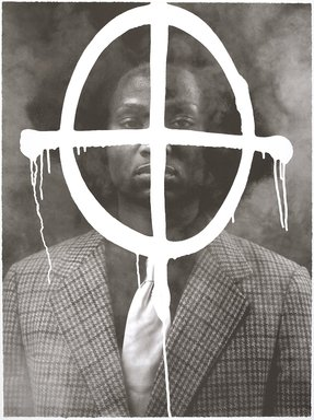 Rashid Johnson (American, born 1977). <em>Thurgood in the House of Chaos</em>, 2009. Photolithograph, 30 x 22 in. (76.2 x 55.9 cm). Brooklyn Museum, Gift of Exit Art, 2013.30.28. © artist or artist's estate (Photo: , 2013.30.28_PS9.jpg)