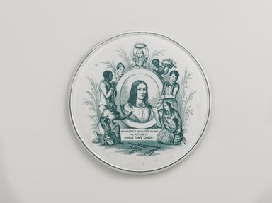 After George Cruikshank (British, 1792-1878). <em>Trivet</em>, ca. 1855. Glazed earthenware, 3/8 x 6 5/8 in. (1 x 16.8 cm). Brooklyn Museum, Caroline A.L. Pratt Fund, 2013.37.1. Creative Commons-BY (Photo: Brooklyn Museum, 2013.37.1_PS9.jpg)