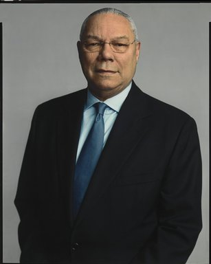 Timothy Greenfield-Sanders (American, born 1952). <em>Colin Powell</em>, 2007. Inkjet print, 58 x 44 in. (147.3 x 111.8 cm). Brooklyn Museum, Gift of Michael Sloane, 2013.54.3. © artist or artist's estate (Photo: Brooklyn Museum, 2013.54.3_PS6.jpg)
