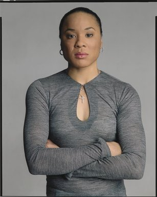 Timothy Greenfield-Sanders (American, born 1952). <em>Dawn Staley</em>, 2007. Inkjet print, 58 x 44 in. (147.3 x 111.8 cm). Brooklyn Museum, Gift of Michael Sloane, 2013.54.4. © artist or artist's estate (Photo: Brooklyn Museum, 2013.54.4_PS6.jpg)