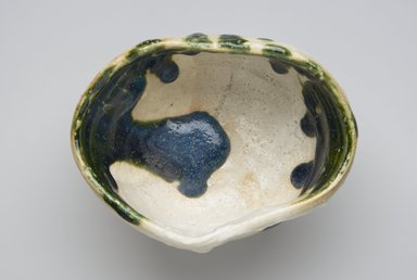 Koie Ryoji (Japanese, born 1938). <em>Tea Bowl</em>, 2005. Stoneware with glaze; oribe ware, 4 5/16 x 5 7/8 in. (11 x 15 cm). Brooklyn Museum, Gift of Shelly and Lester Richter, 2013.83.27. Creative Commons-BY (Photo: Brooklyn Museum, 2013.83.27_top_PS4.jpg)