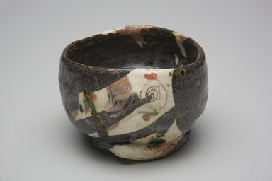 Suzuki Goro (Japanese, born 1941). <em>Tea Bowl</em>, 1995. Glazed stoneware; oribe ware, 3 15/16 x 4 5/16 in. (10 x 11 cm). Brooklyn Museum, Gift of Shelly and Lester Richter, 2013.83.41. Creative Commons-BY (Photo: Brooklyn Museum, 2013.83.41_view1_PS11.jpg)