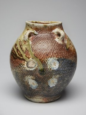 Shimaoka Tatsuzo (Japanese, 1919-2007). <em>Jar with Four Lugs</em>, ca. 2000. Glazed stoneware, 7 7/8 × 6 1/2 × 7 in. (20 × 16.5 × 17.8 cm). Brooklyn Museum, Gift of Shelly and Lester Richter, 2013.83.66. Creative Commons-BY (Photo: Brooklyn Museum, 2013.83.66_view1_PS11.jpg)