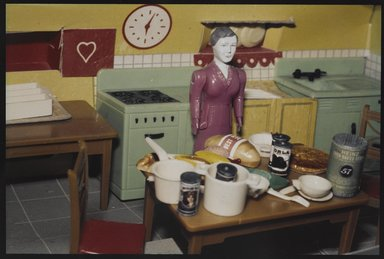 Laurie Simmons (American, born 1949). <em>Kitchen</em>, ca. 1978. Silver dye bleach photograph, 5 7/8 x 8 5/16 in. (14.9 x 21.1 cm). Brooklyn Museum, Gift of Susan Wyatt in memory of Ann A. Wyatt, 2014.119.1. © artist or artist's estate (Photo: Brooklyn Museum, 2014.119.1_PS9.jpg)