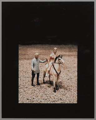 Laurie Simmons (American, born 1949). <em>Vertical Man/Woman/Horse</em>, ca. 1978. Silver dye bleach photograph, frame: 16 3/4 x 14 3/4 in. (42.5 x 37.5 cm). Brooklyn Museum, Gift of Susan Wyatt in memory of Ann A. Wyatt, 2014.119.2. © artist or artist's estate (Photo: , 2014.119.2_PS9.jpg)