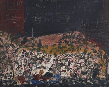 Diana Korzenik. <em>Brooklyn Summer Friday Night</em>, 1954. Oil on canvas, 20 x 30 in. (50.8 x 76.2 cm). Brooklyn Museum, Gift of the artist, 2014.12. © artist or artist's estate (Photo: , 2014.12_PS9.jpg)