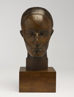 Nancy Elizabeth Prophet (American, 1890-1960). <em>Untitled (Head)</em>, ca. 1930. Wood, head without base: 12 1/2 x 6 1/2 x 7 in. (31.8 x 16.5 x 17.8 cm). Brooklyn Museum, Brooklyn Museum Fund for African American Art in honor of Saundra Williams-Cornwell, 2014.3 (Photo: Brooklyn Museum, 2014.3_front_PS9.jpg)