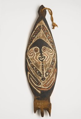 Purari. <em>Board (Kwoi)</em>. Wood, pigment, 33 1/16 x 9 7/16 x 1 9/16 in. (84 x 24 x 4 cm). Brooklyn Museum, Gift in memory of Frederic Zeller, 2014.54.25 (Photo: Brooklyn Museum, 2014.54.25_PS9.jpg)