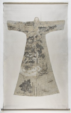 Peng Wei (Chinese, born 1974). <em>Landscape of Mount Putuo</em>, 2007. Ink and colors on silk, 57 7/8 x 82 11/16 in. (147 x 210 cm). Brooklyn Museum, Gift of Mrs. Roscoe C.E. Brown, Dr. Martin E. Frankel, Mr. and Mrs. Maxime L. Hermanos, and Chi Tiew-lui, by exchange, 2014.55. © artist or artist's estate (Photo: , 2014.55_PS9.jpg)