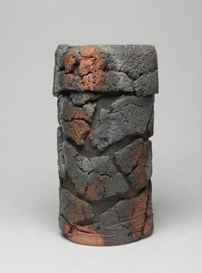Harada Shuroku (Japanese, born 1941). <em>Vase</em>, ca. 2006. Bizen ware: unglazed stoneware, 11 x 6 5/16 in. (28 x 16 cm). Brooklyn Museum, Gift of Steven Korff and Marcia Van Wagner, 2014.60.5. Creative Commons-BY (Photo: , 2014.60.5_front_PS9.jpg)