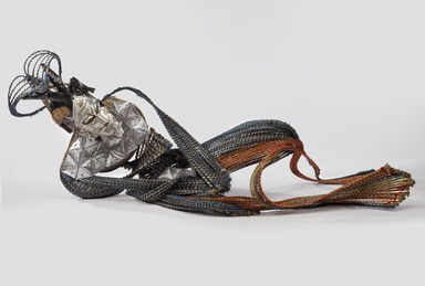 Adejoke Tugbiyele (American, born 1977). <em>Homeless Hungry Homo</em>, 2014. Palm stems, steel, wire, metal, wood, US dollar bills, 23 5/8 x 29 15/16 x 59 13/16 in. (60 x 76 x 151.9 cm). Brooklyn Museum, Frank L. Babbott Fund, 2015.42. © artist or artist's estate (Photo: Brooklyn Museum, 2015.42_PS9.jpg)