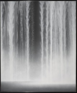 Senju Hiroshi (Japanese, born 1958). <em>Waterfall</em>, 2012. Natural pigments on paper mounted on board, height: 76 5/16 x 63 13/16 in. (193.8 x 162.1 cm). Brooklyn Museum, Gift of Sundaram Tagore, 2015.4. © artist or artist's estate (Photo: Brooklyn Museum, 2015.4_PS9.jpg)