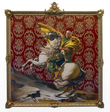 Kehinde Wiley (American, born 1977). <em>Napoleon Leading the Army over the Alps</em>, 2005. Oil on canvas, 108 x 108 in. (274.3 x 274.3 cm). Brooklyn Museum, Partial gift of Suzi and Andrew Booke Cohen in memory of Ilene R. Booke and in honor of Arnold L. Lehman, Mary Smith Dorward Fund, and William K. Jacobs, Jr. Fund