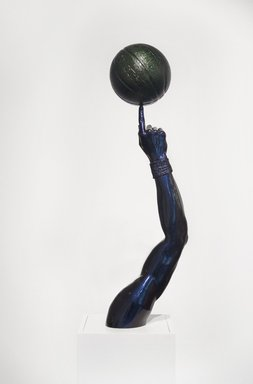 Hank Willis Thomas (American, born 1976). <em>Liberty</em>, 2015. Fiberglass, chameleon auto paint finish, 35 x 10 x 10 in. (88.9 x 25.4 x 25.4 cm). Brooklyn Museum, Gift of the artist and Jack Shainman in honor of Arnold Lehman, 2015.57a-b. © artist or artist's estate (Photo: Brooklyn Museum, 2015.57a-b_PS11.jpg)