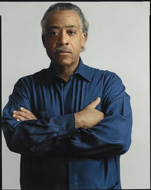 Timothy Greenfield-Sanders (American, born 1952). <em>Rev. Al Sharpton</em>, 2007. Inkjet print, 58 x 44 in. (147.3 x 111.8 cm). Brooklyn Museum, Gift of Michael Sloane, 2015.87.2. © artist or artist's estate (Photo: Brooklyn Museum, 2015.87.2_PS6.jpg)