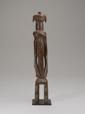 Mumuye artist. <em>Figure (Iagalagana)</em>. Wood, pigment, with mount: 20 11/16 x 4 5/16 in. (52.6 x 10.9 cm). Brooklyn Museum, Gift of the Ralph and Fanny Ellison Charitable Trust, 2015.88.10. Creative Commons-BY (Photo: Brooklyn Museum, 2015.88.10_PS9.jpg)