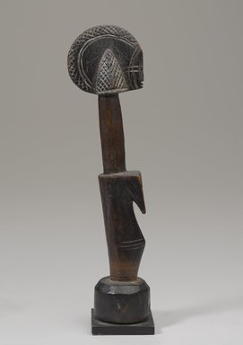 Mossi. <em>Female figure (biiga)</em>. Wood, with mount: 13 3/16 x 2 3/4 in. (33.5 x 7 cm). Brooklyn Museum, Gift of the Ralph and Fanny Ellison Charitable Trust, 2015.88.13. Creative Commons-BY (Photo: Brooklyn Museum, 2015.88.13_profile_PS9.jpg)