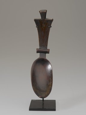 Fang artist. <em>Spoon</em>. Wood, without mount: 9 1/16 x 2 3/16 in. (23 x 5.5 cm). Brooklyn Museum, Gift of the Ralph and Fanny Ellison Charitable Trust, 2015.88.4. Creative Commons-BY (Photo: Brooklyn Museum, 2015.88.4_front_PS9.jpg)