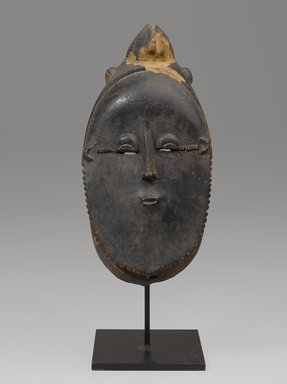 Guro artist. <em>Mask</em>. Wood, pigment, without mount: 16 15/16 x 2 15/16 in. (43 x 7.4 cm). Brooklyn Museum, Gift of the Ralph and Fanny Ellison Charitable Trust, 2015.88.7. Creative Commons-BY (Photo: Brooklyn Museum, 2015.88.7_front_PS9.jpg)