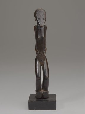 Songo artist. <em>Figure of a Female</em>. Wood, with mount: 10 1/4 x 2 3/4 in. (26 x 7 cm). Brooklyn Museum, Gift of the Ralph and Fanny Ellison Charitable Trust, 2015.88.9. Creative Commons-BY (Photo: Brooklyn Museum, 2015.88.9_front_PS9.jpg)